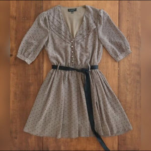LOVELY GIRL COLLECTION HEART PRINT DAY DRESS S